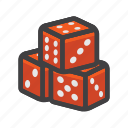 block, cube, dice game, dices icon