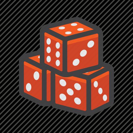 block, cube, dice game, dices icon