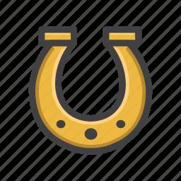 charm, horse shoe, horseshoe-shaped, lucky, lucky charm, shoe icon