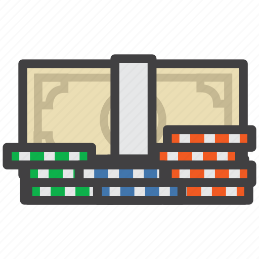 bills, casino, dollar, dollar bills, game, stack icon