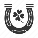 chance, clover, fortune, four-leaf, horseshoe, luck icon