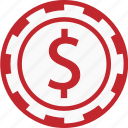 casino, coins, coinsphere, game, hazard, play, poker icon