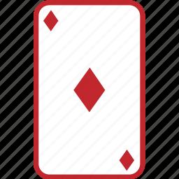 card, cards, casino, diamond, diamonds, game, hazard, play, poker icon