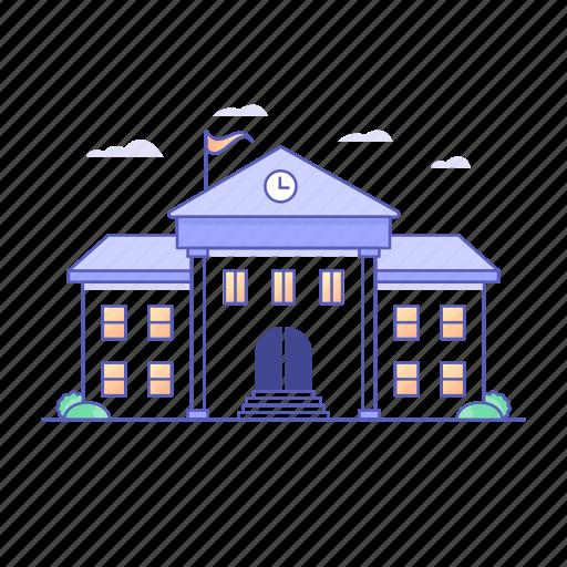 architecture, building, buildings, college, education, school icon