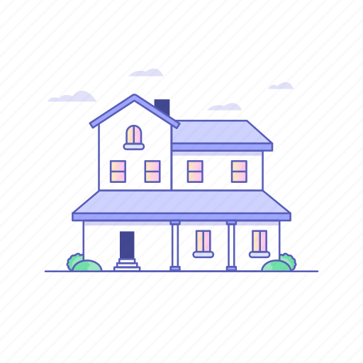 architecture, building, buildings, house, modern home icon