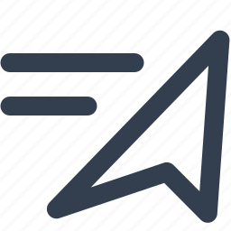arrow, direction, emplacement, list, locality, location, position, right icon