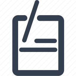 note, scratchpad, text, writing, writing-pad icon