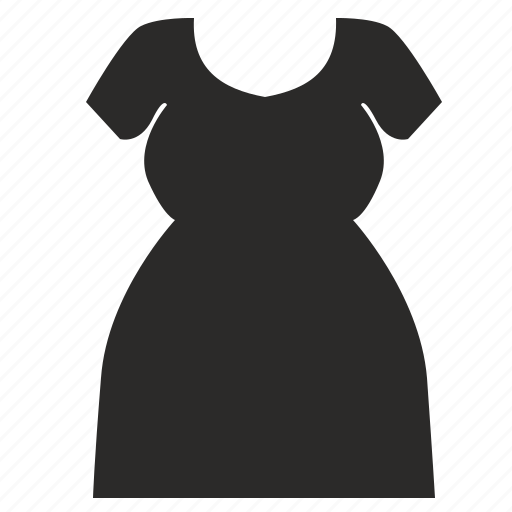 body, dress, fat, fit, large, woman icon