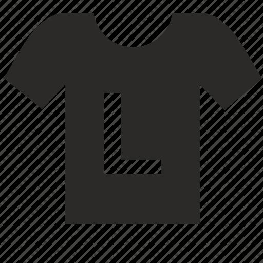 large, man, size, thirt, wear icon