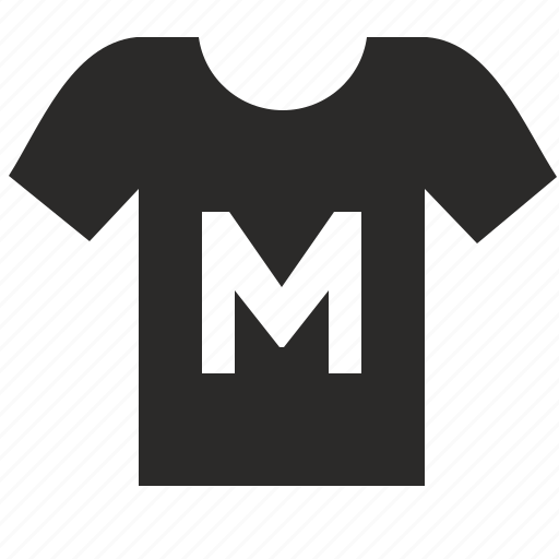 man, medium, size, thirt, wear icon