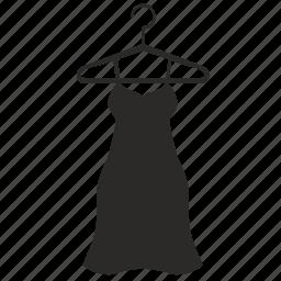 dress, lady, night, silk, woman icon