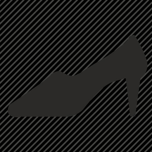 classic, code, dress, lady, shoe, woman icon