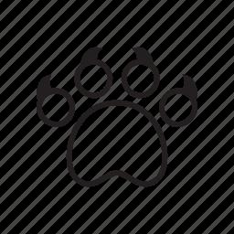 animal, cat, cat claw, claw, kitty, paw, pet icon