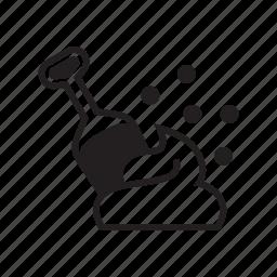 animal, cat, cat litter, feces, kitty, pet, shovel icon