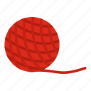 adorable, animal, ball, cat, long, toy, yarn icon