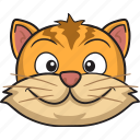 emoticon, smiley, cat, face, cartoon, emoji
