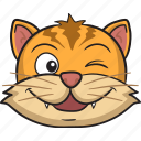 cartoon, cat, emoji, emoticon, face, smiley icon