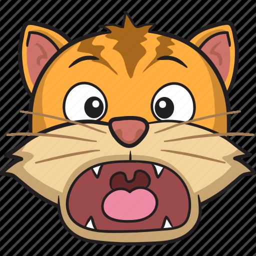 cartoon, cat, emoji, emoticon, face, smiley icon