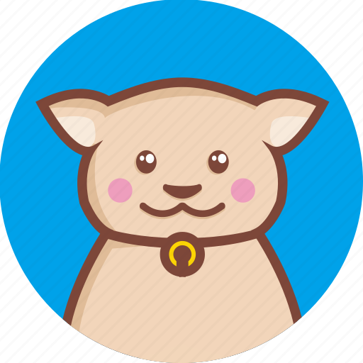 animal, avatar, cat, circle, expression, normal icon