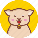 animal, avatar, cat, cheerful, circle, expression icon