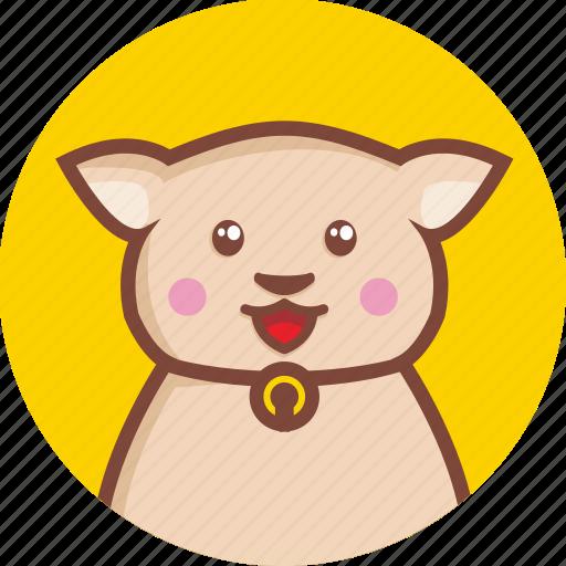 animal, avatar, cat, cheerful, circle, expression icon
