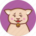 animal, avatar, cat, circle, cunning, expression icon