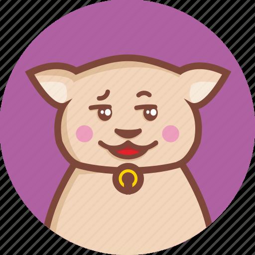 animal, avatar, cat, circle, cunning, expression icon