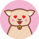 animal, avatar, cat, expression, fall, in, love icon