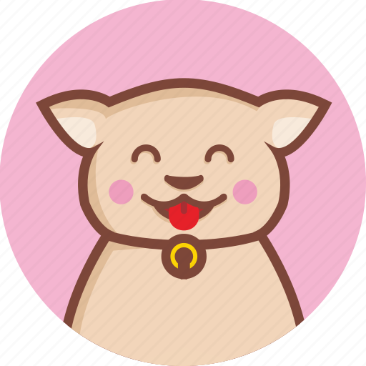 animal, avatar, cat, circle, expression, lucky icon