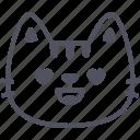 love, cat, emoticon, emoji, emotion, expression, feeling