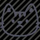 sad, cat, emoticon, emoji, emotion, expression, feeling