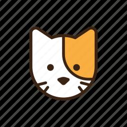 animal, cat, cute, face, head, kitty, pet icon