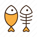 animal, cat, fish, fish bone, food, kitty, pet icon