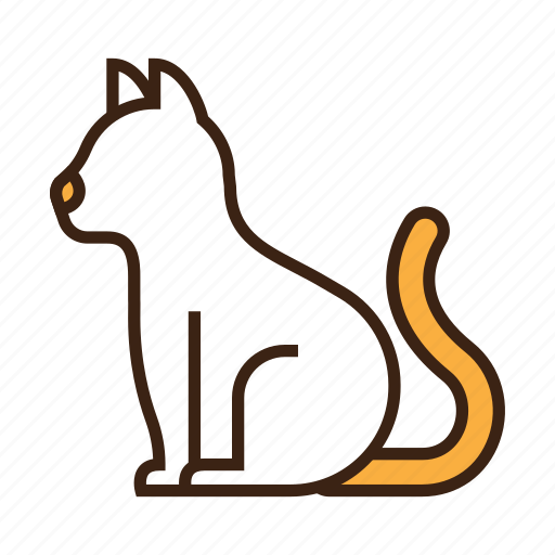 animal, cat, cute, kitty, pet, sit, white icon