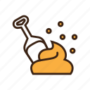 animal, cat, cat litter, feces, kitty, pet, shovel icon