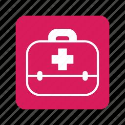 animal, box, cat, first aid kit, health, medical, medicine icon