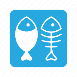 animal, cat, eat, fish, fish bone, food, pet icon