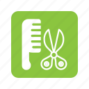 animal, cat, comb, hair, haircut, pet, scissor icon