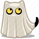 cat, feline, ghost, halloween, pet icon