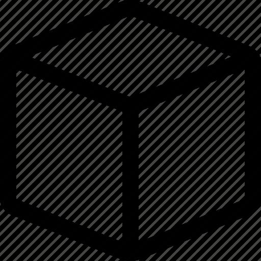 box, cube, geometrical, geometry, isometric, moving, receptacle icon