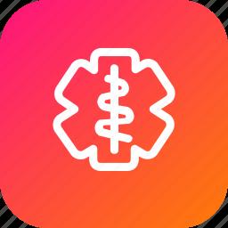 doctor, hospital, logo, medical, sign, treatment icon