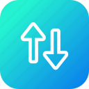 arrow, direction, down, path, top, up, way icon
