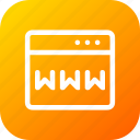domain, webpage, website, window, www icon