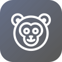 animal, face, forest, freind, human, monkey icon