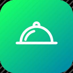 dinner, hot, hotel, restaurant, serve, service, tray icon