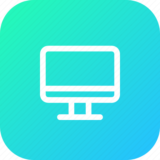 computer, device, display, laptop, monitor, screen icon
