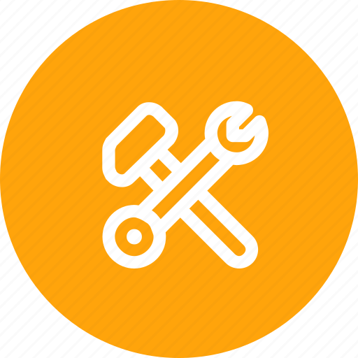 driver, equipment, hammer, repair, screw, tool, wrench icon