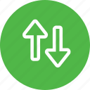 arrow, bottom, direction, down, top, up, way icon