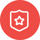 award, badge, police, safety, sheriff, shield, star icon