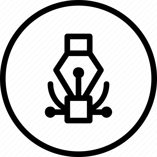art, curve, design, development, draw, tool icon